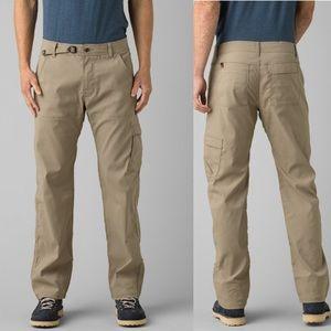 Prana men dark khaki Stretch Zion Pant M 34